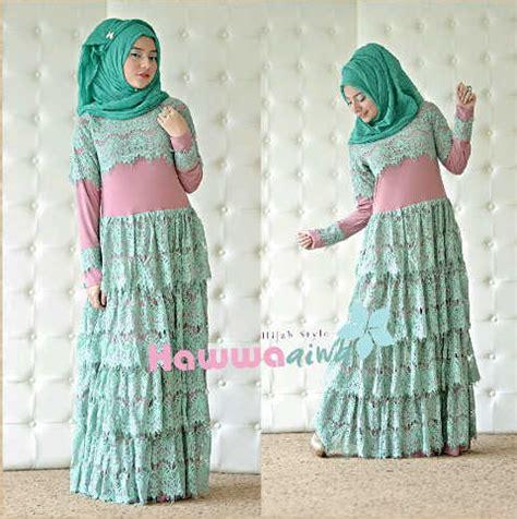 Gamis Kaftan Deswinta Toska 01 fringe dusty tua tosca baju muslim gamis modern