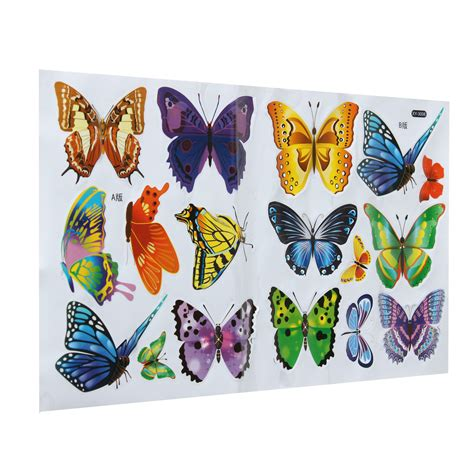 wall stickers b q diy 17 butterflies wall stickers mural decals wallpaper reusable removable ebay