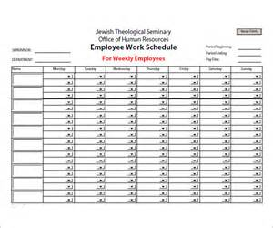 Employees Schedule Template by Sle Employee Schedule 5 Documents In Pdf Word