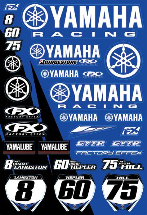 Yamaha Sticker Kits by Factory Yamaha Sticker Kit 2009