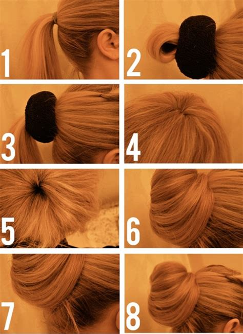 how to diy easy sock bun updo hairstyle with elastic web popular hairstyles trends 2013 2014 for thin hair with