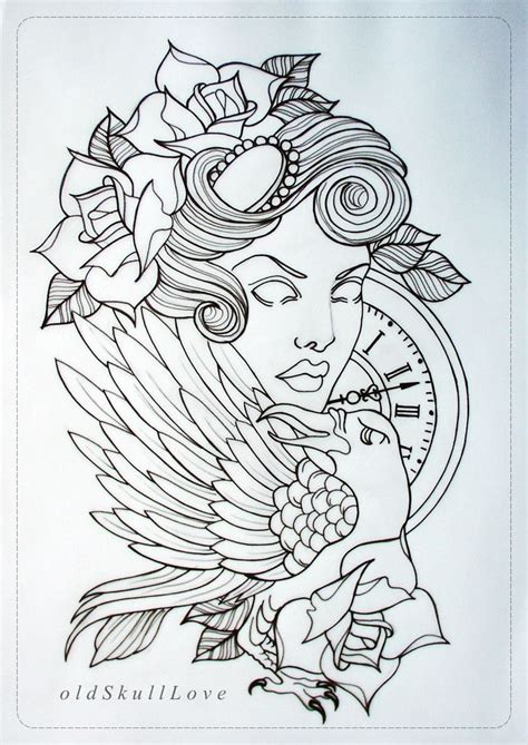 tattoo design outline by oldskulllovebymw deviantart com