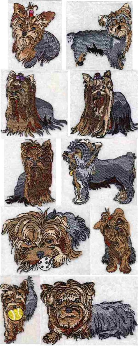 yorkie embroidery designs yorkie embroidery design 171 embroidery origami