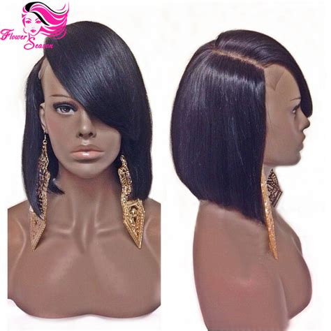 bob wigs human hair black women brazilian human hair short bob full lace wig with bangs
