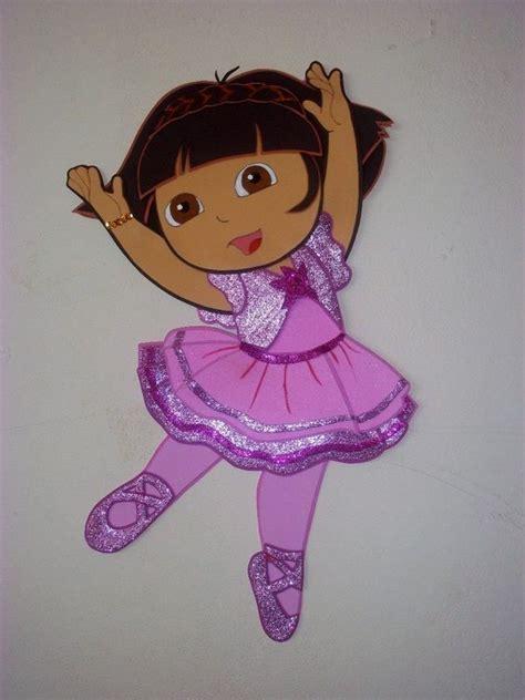 Bailarina De Vale En Fomi   dora la exploradora bailarina gomma crepla goma eva