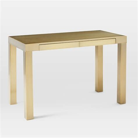 West Elm Parson Desk by Parsons Desk Blackened Brass West Elm