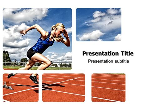 Athlete Running Powerpoint Templates And Backgrounds Running Powerpoint Template