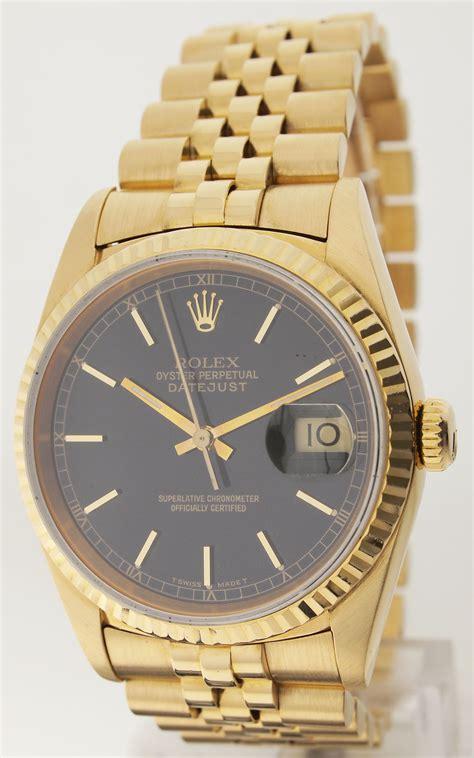 Ck Paket Ck074 Gold A rolex datejust ref 16238 18ct gold herrenuhr saphirglas verdeckte schlie 223 e ebay