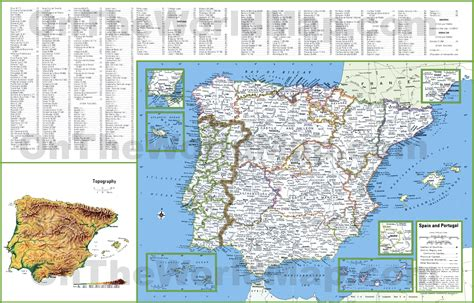 map of spain with cities map of spain with cities www imgkid the image kid
