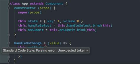 ci smarty tutorial unexpected token for a arrow function using standardjs