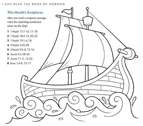 coloring pages book of mormon nephi builds a ship coloring page thekindproject