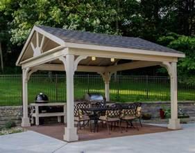 Backyard Sheds Costco Red Cedar Long Gable Open Rectangle Gazebos Gazebos By