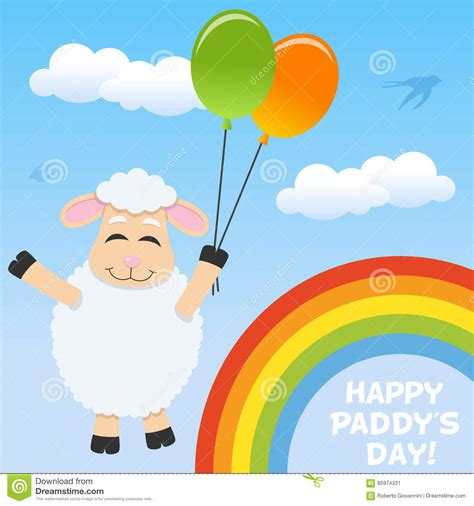 s day character connections happy sheep royalty free illustration cartoondealer