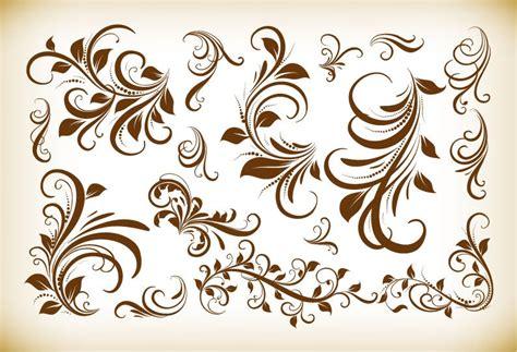 design elements flowers vintage floral design elements vector illustration