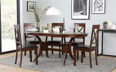 dining room table oval gingembre co townhouse oval dark wood extending dining table with 6