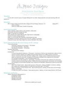 wedding planner wedding planner resume