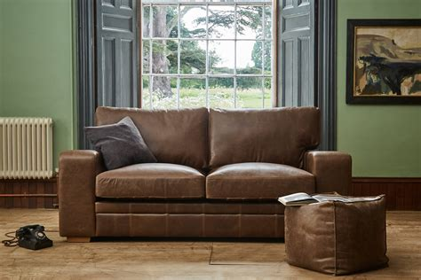 the broad arm leather sofa handcrafted by indigo furniture