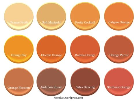 the best orange paint colors room lust