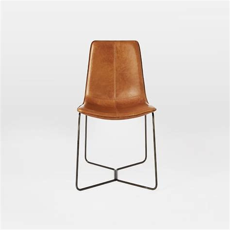 Leather Chair Dining Slope Leather Dining Chair West Elm