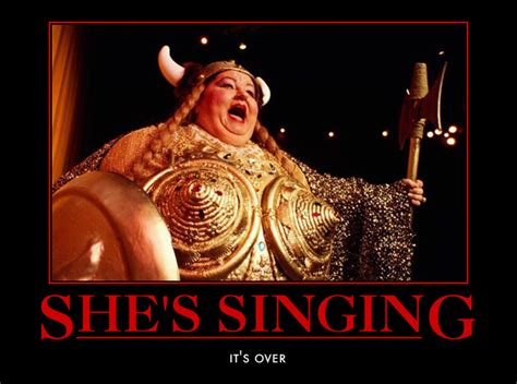 Fat Lady Meme - fat lady sings pondering the classroom