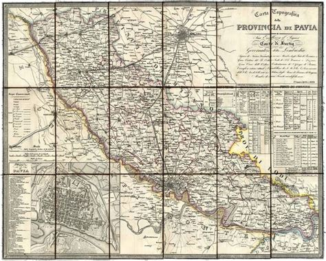 cartina provincia pavia carta topografica della provincia di pavia 526