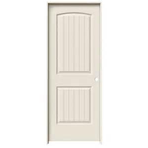 shop jeld wen 2 panel top plank single prehung