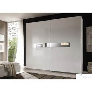 lidia white high gloss wardrobe with sliding doors