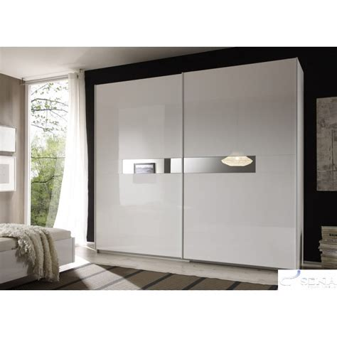 White Gloss Sliding Door Wardrobe by Lidia White High Gloss Wardrobe With Sliding Doors