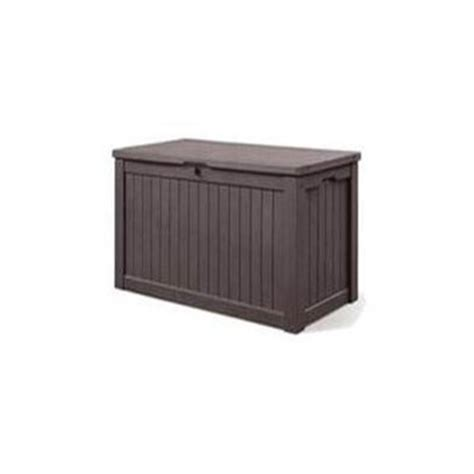 lowes outside storage containers keter 567 l resin deck box lowe s canada