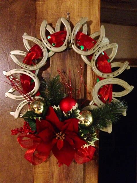 crafts made from horseshoes christmas wreath made out of