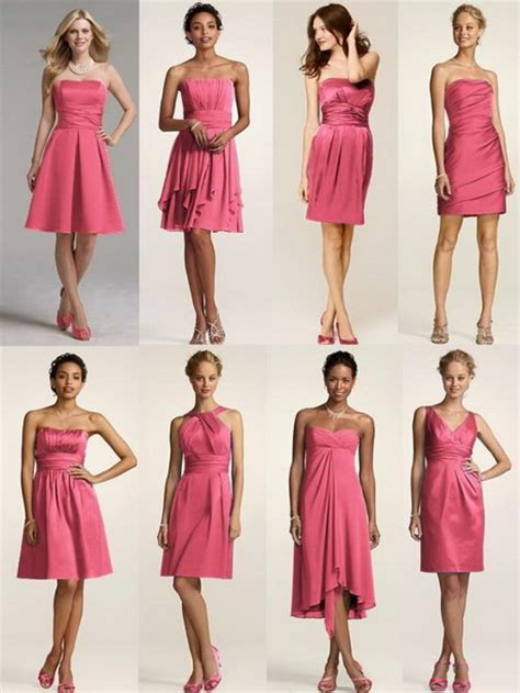 different dress types styles bridesmaid dresses same color different style