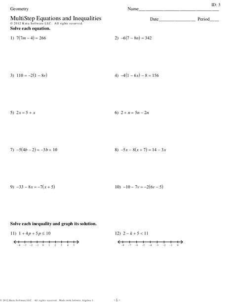 solving for variables worksheet worksheet works solving multi step equations variables on both sides solving equations