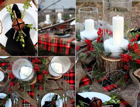 winter wedding decor reception tables burlap berries