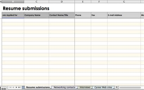5 Apps And Tools To Organize Your Job Search Applicant Tracking Log Template