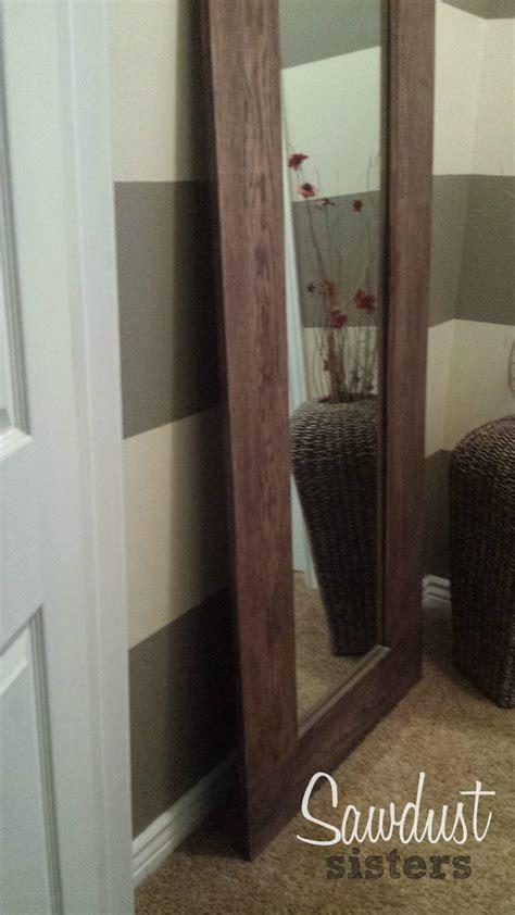 diy framed mirror tutorial diy floor length mirror frame tutorial sawdust sisters