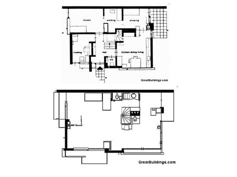 rietveld schroder house plan drawings arch