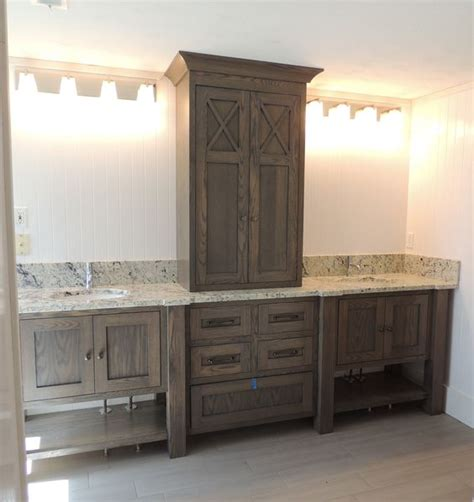 bathroom vanity with upper cabinets white oak bathroom vanities and vanities on pinterest