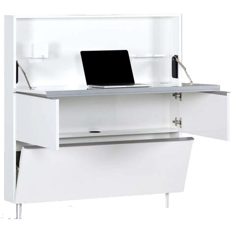 Space Saver Desk Uk by Sonorous Hm110wrkwk Space Saving Wall Supported Desk In White