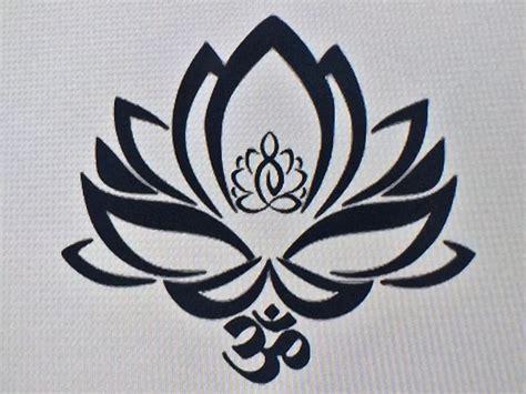 namaste symbol tattoo designs lotus flower decal with ohm symbol tattoos