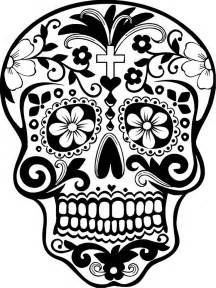 Day Of The Dead Calavera Outline skull pictures cliparts co
