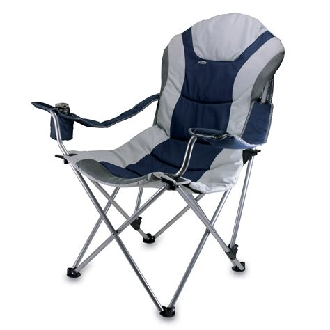 picnic time reclining c navy and gray