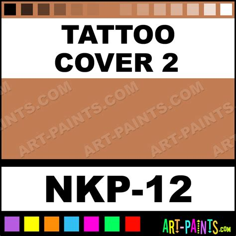 ben nye tattoo cover cover 2 concealer paints nkp 12