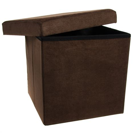 storage ottoman cube folding fabric square foot rest