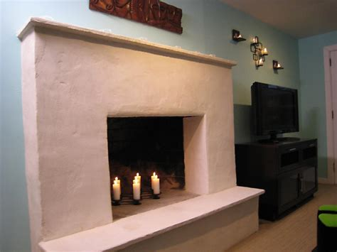 Plaster Fireplaces by Weekend Projects Resurface A Fireplace With Stucco Hgtv