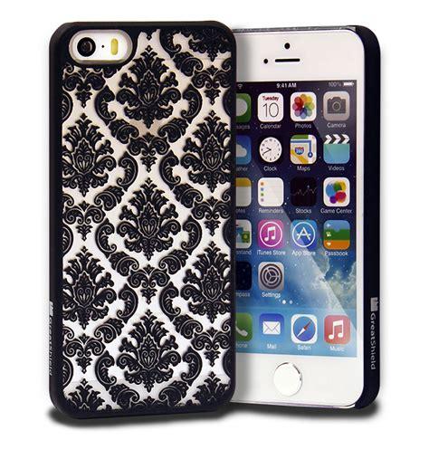 Iphone 5 5s Se Banana Pattern Pink Hardcase damask vintage pattern rubber protector cover