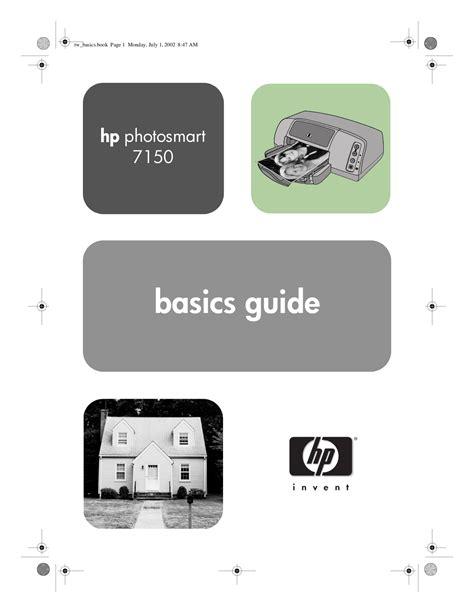 Download Free Pdf For Hp Photosmart 7150 Printer Manual