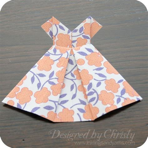 How To Make Dress From Paper - origami dress tutorial origami