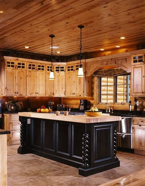 Log Cabin Kitchen Designs Photos Of A Modern Log Cabin Golden Eagle Log Homes