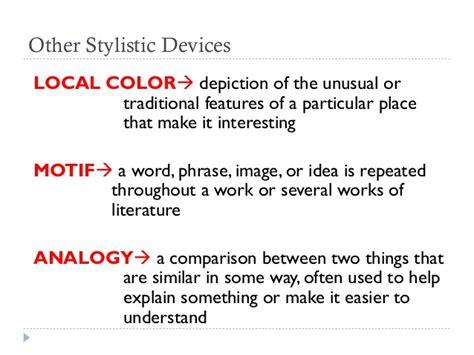 local color literature stylistics let review
