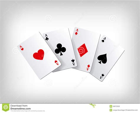 ace card template cards aces isolated on gray